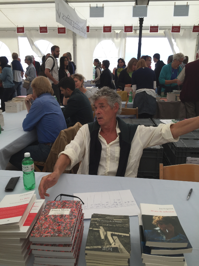 Jon Ferguson à Le Livre sur les quais à Morges le 7 septembre 2015 © Photographie - Bouquiner