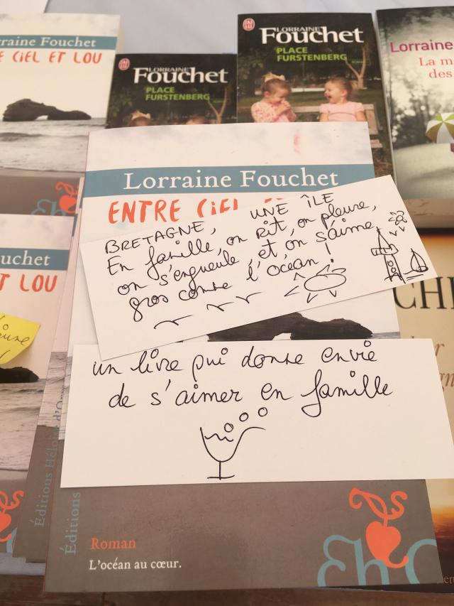Quelques mots de Lorraine Fouchet pendant qu'elle est en pause